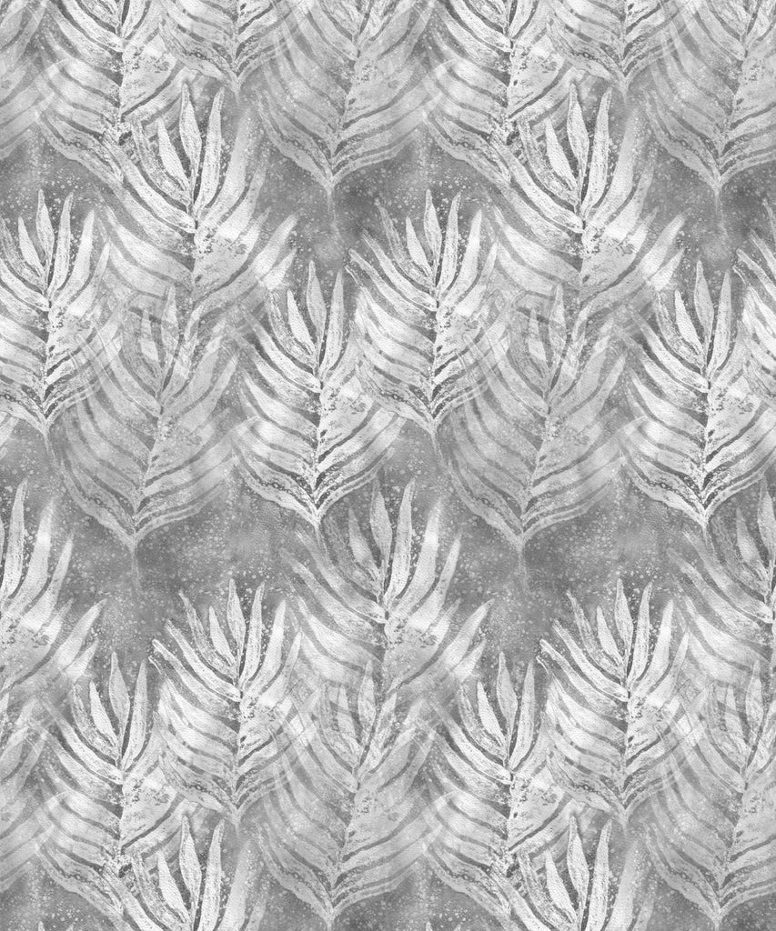 Leaf Wallpaper in Silver from the Shibori Collection by Milton & King