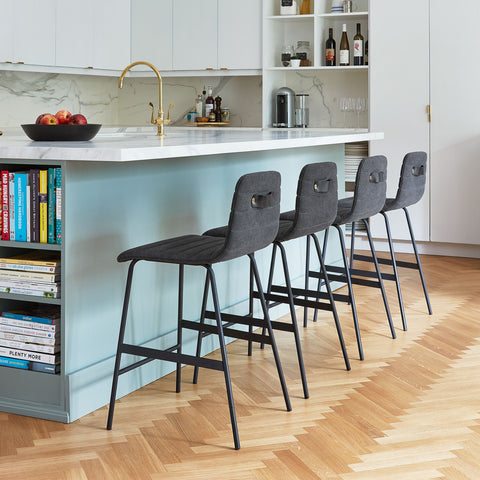 Lecture Upholstered Counter Stool by Gus Modern