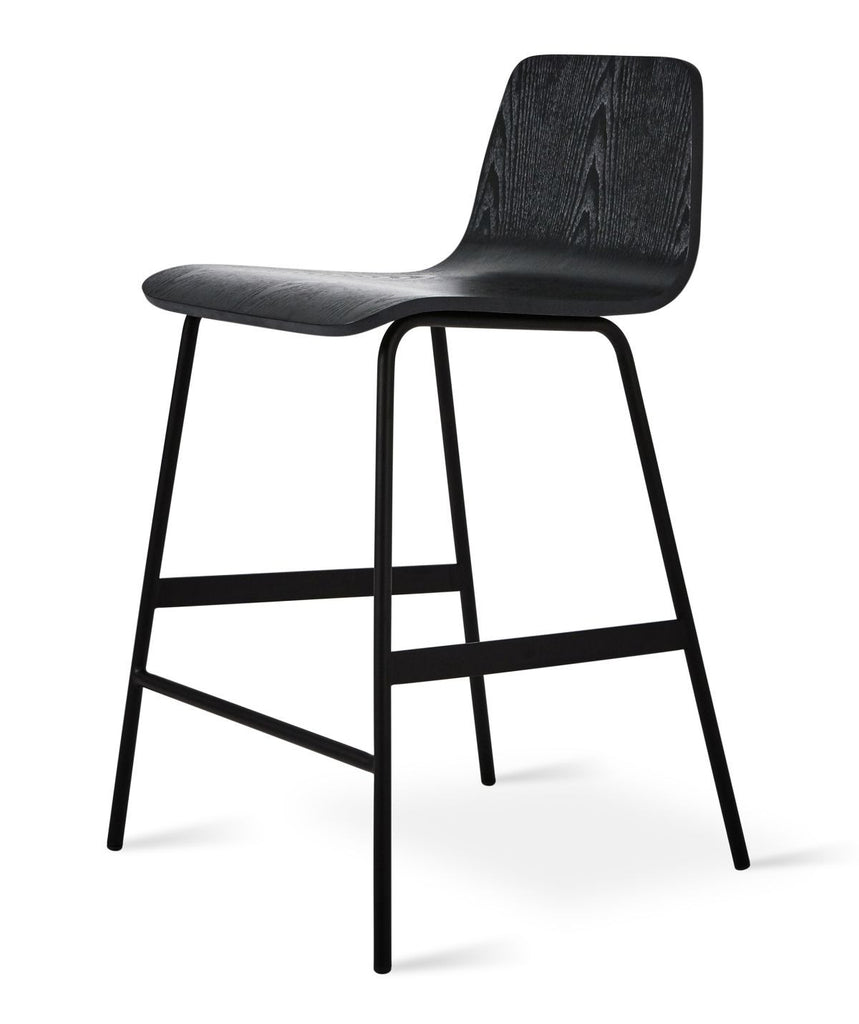 Lecture Stool in Black Ash design by Gus Modern