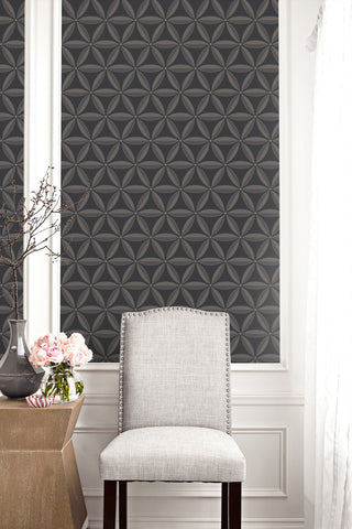 Lens Geometric Wallpaper from the Casa Blanca II Collection by Seabrook Wallcoverings