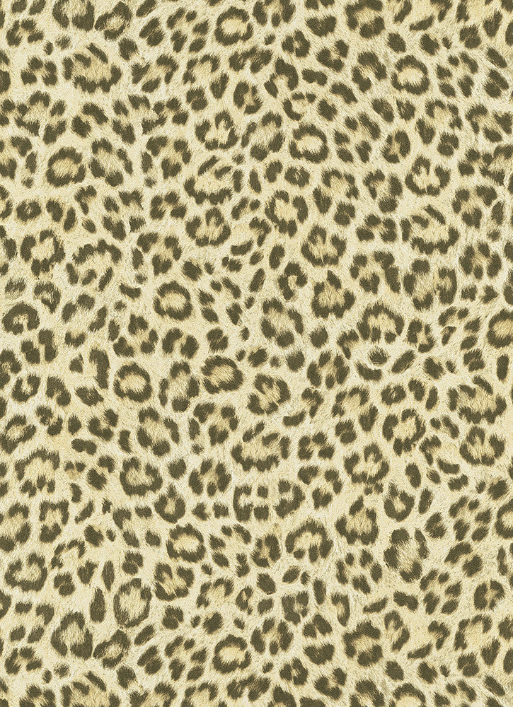 Leopard Print Wallpaper in Beige and Orange design by BD Wall