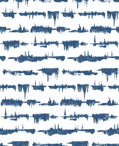 Lifeline Peel-and-Stick Wallpaper in Blue by NextWall