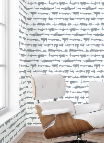 Lifeline Peel-and-Stick Wallpaper in Cove Grey by NextWall