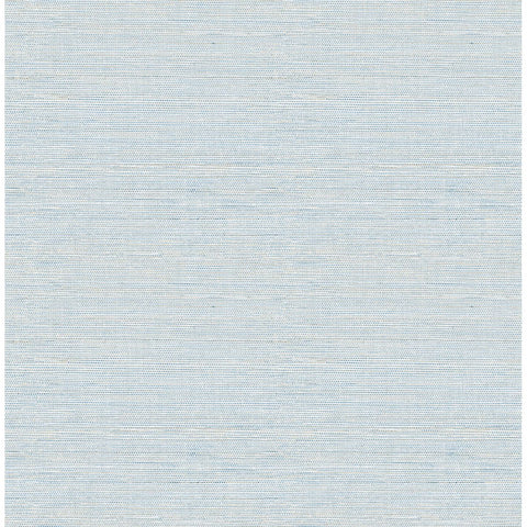 Lilt Faux Grasscloth Wallpaper in Blue from the Celadon Collection by Brewster Home Fashions