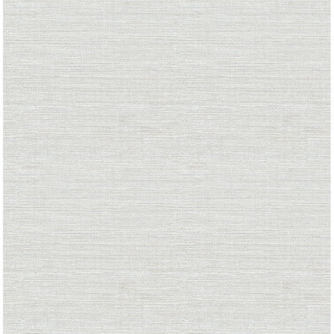 Lilt Faux Grasscloth Wallpaper in Light Blue from the Celadon Collection by Brewster Home Fashions