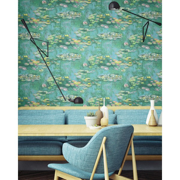 Lily Pads Wallpaper from the French Impressionist Collection by Seabrook Wallcoverings