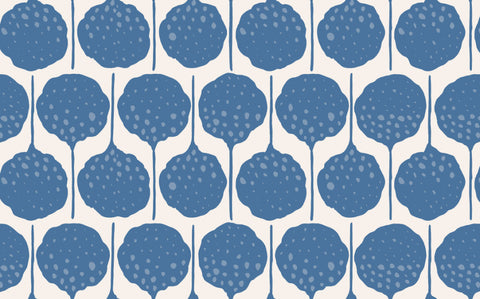 Sample Lily's Pad Wallpaper in Ziggy Stardust by Anna Redmond for Abnormals Anonymous
