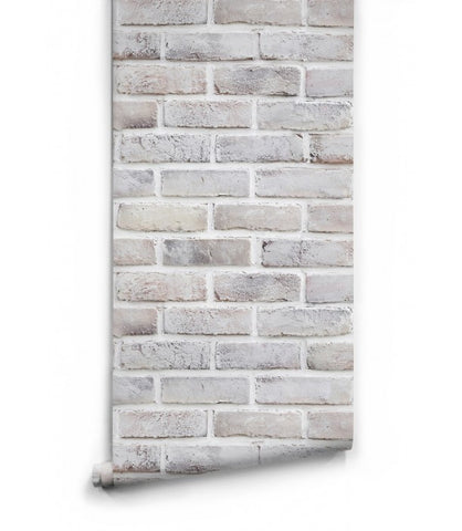 Sample Lime Washed Bricks Boutique Faux Wallpaper design by Milton & King