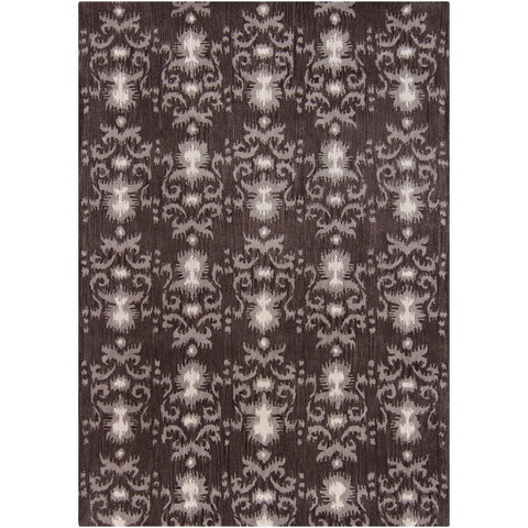 Lina Collection Hand-Tufted Wool Area Rug in Charcoal and Off-White design by Chandra