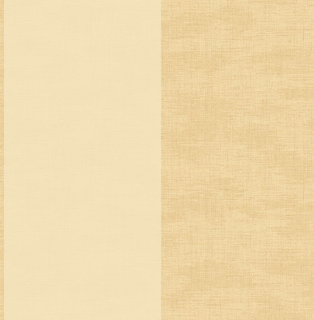 Sample Linen Stripe Wallpaper in Beige and Sand from the Watercolor Florals Collection by Mayflower Wallpaper