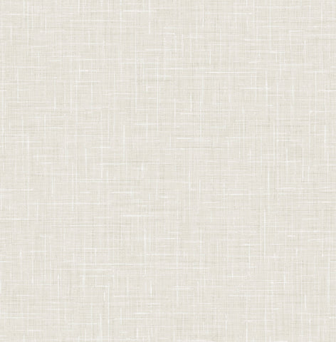 Linen Wallpaper in Soft Grey from the Day Dreamers Collection by Seabrook Wallcoverings