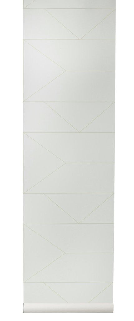 Sample Lines Wallpaper in Off-White design by Ferm Living