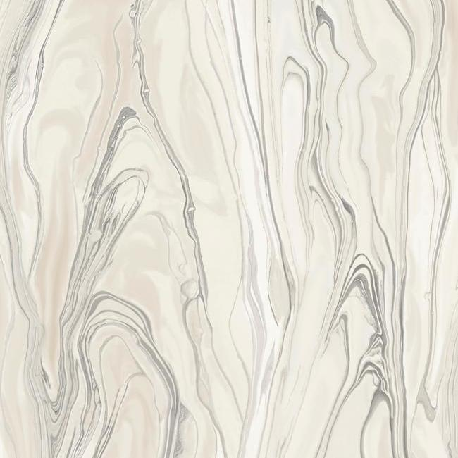 Liquid Marble Wallpaper in Pink from the Impressionist Collection by York Wallcoverings