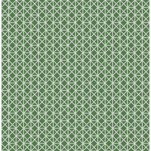 Lisbeth Geometric Lattice Wallpaper in Green from the Pacifica Collection by Brewster Home Fashions