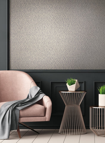 Live Wire Wallpaper in Ivory and Grey from the Terrain Collection by Candice Olson for York Wallcoverings