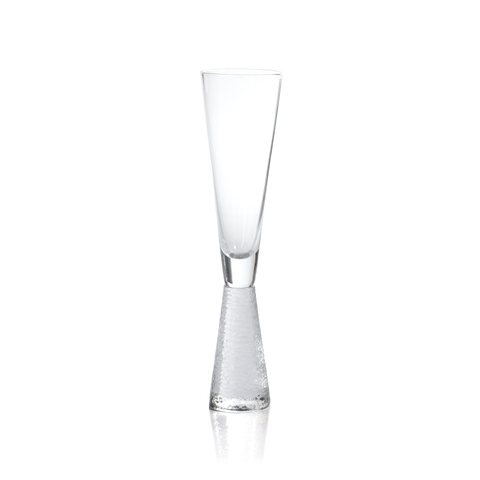 Livogno Champagne Flute on Hammered Stem by Panorama City