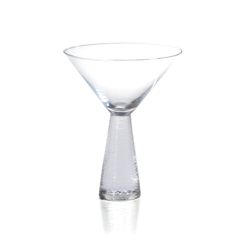 Livogno Martini Glass on Hammered Stem by Panorama City