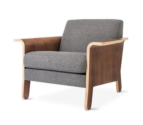 Lodge Chair in Andorra Pewter by Gus Modern by Gus Modern
