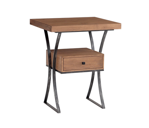 Logan Side Table in Almond design by Redford House