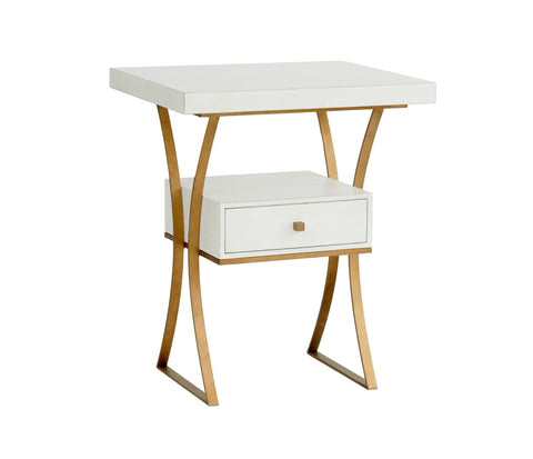Logan Side Table in Raw Cotton design by Redford House