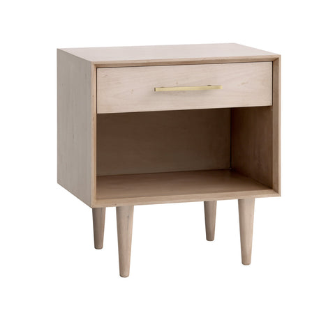 London 1 Drawer Nightstand in Cashew design by Redford House