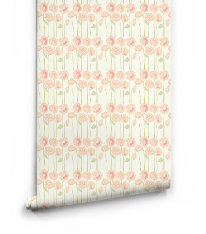 Long Stem Posies Wallpaper from the Love Mae Collection by Milton & King