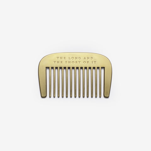 The Long And Short Of It Beard Comb design by Izola