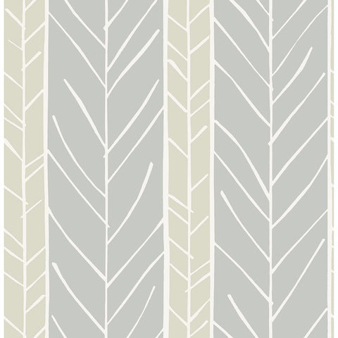 Lottie Stripe Wallpaper in Grey from the Bluebell Collection by Brewster Home Fashions