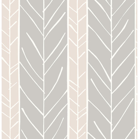 Lottie Stripe Wallpaper in Rose from the Bluebell Collection by Brewster Home Fashions
