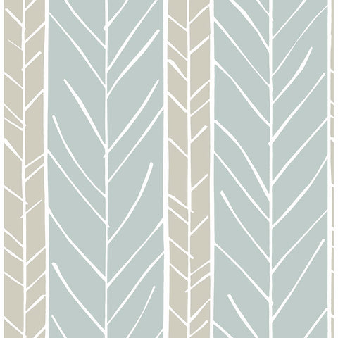 Lottie Stripe Wallpaper in Slate from the Bluebell Collection by Brewster Home Fashions