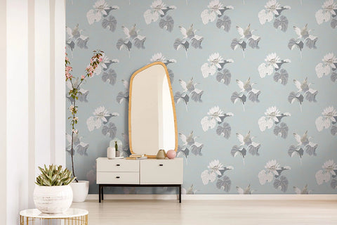 Lotus Wallpaper in Thunderbird from the Sanctuary Collection by Mayflower Wallpaper