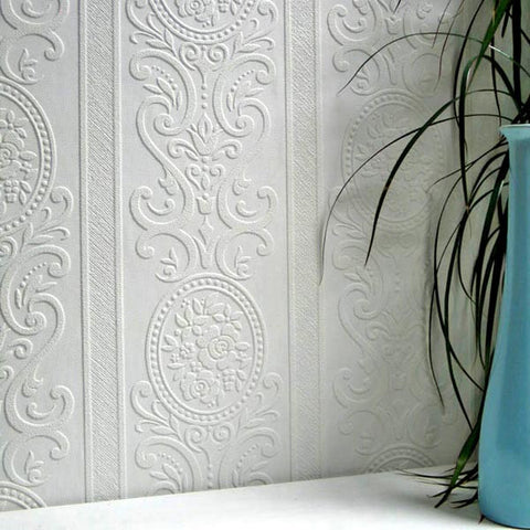 Louisa Paintable Textured Wallpaper design by Brewster Home Fashions