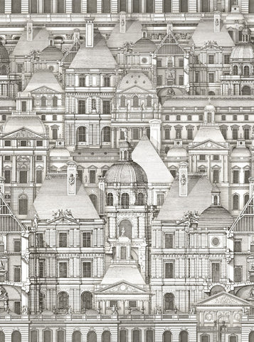 Louvre Tapet Wallpaper in Black and White from the Eclectic Collection by Mind the Gap