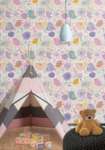 Love Birds Wallpaper by Muffin & Mani for Milton & King