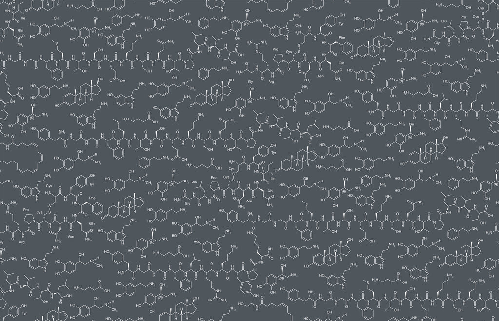 Love Molecules Wallpaper in Chalk design by Aimee Wilder