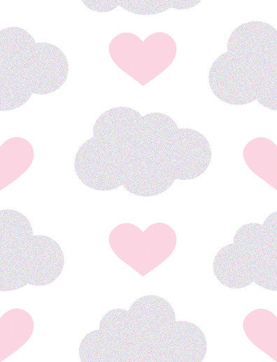 Loveclouds Wallpaper in Illusion design by Aimee Wilder