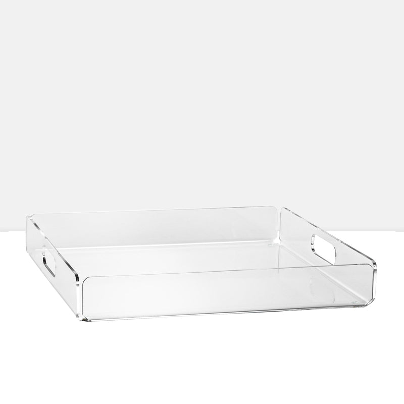 "Lucite Acrylic 14x14"" Square Tray"
