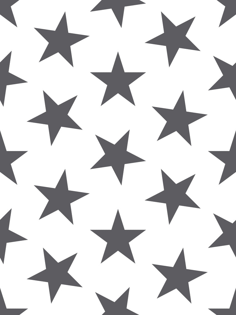 Lucky Star Wallpaper in Charcoal by Sissy + Marley for Jill Malek