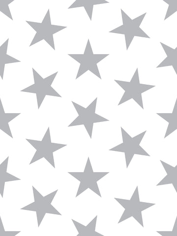 Lucky Star Wallpaper in Silver Metallic by Marley + Malek Kids