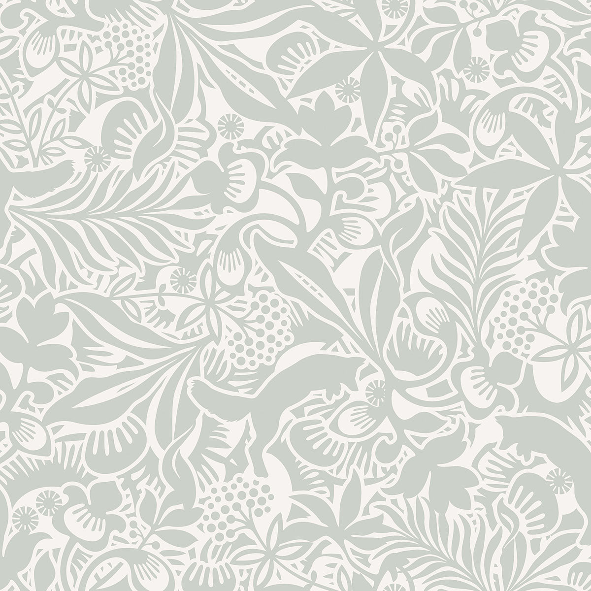 Lummig Mint Fox Wallpaper From The Wonderland Collection By Brewster Home Fashions