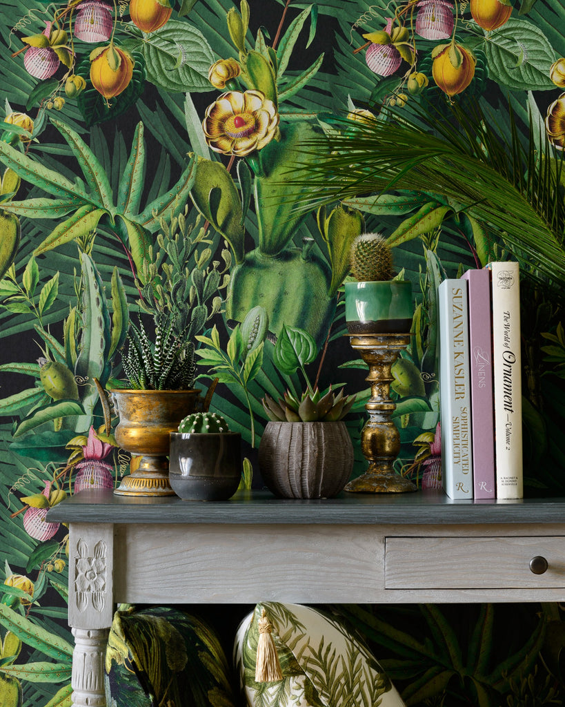 Luscious Flora Wallpaper in Green from the Wallpaper Compendium Collection by Mind the Gap
