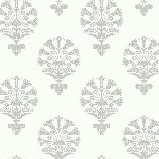Luxor Wallpaper in Grey from the Silhouettes Collection by York Wallcoverings