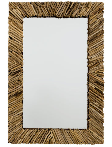 Driftwood Rectangle Mirror **MUST SHIP COMMON CARRIER** design by Jamie Young