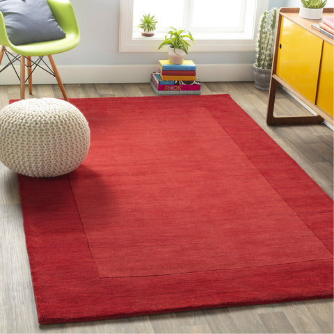 Mystique M-299 Hand Loomed Rug in Dark Red by Surya
