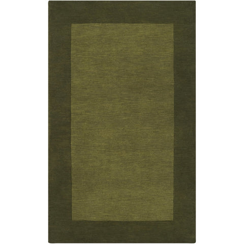 Mystique M-315 Hand Loomed Rug in Dark Green by Surya
