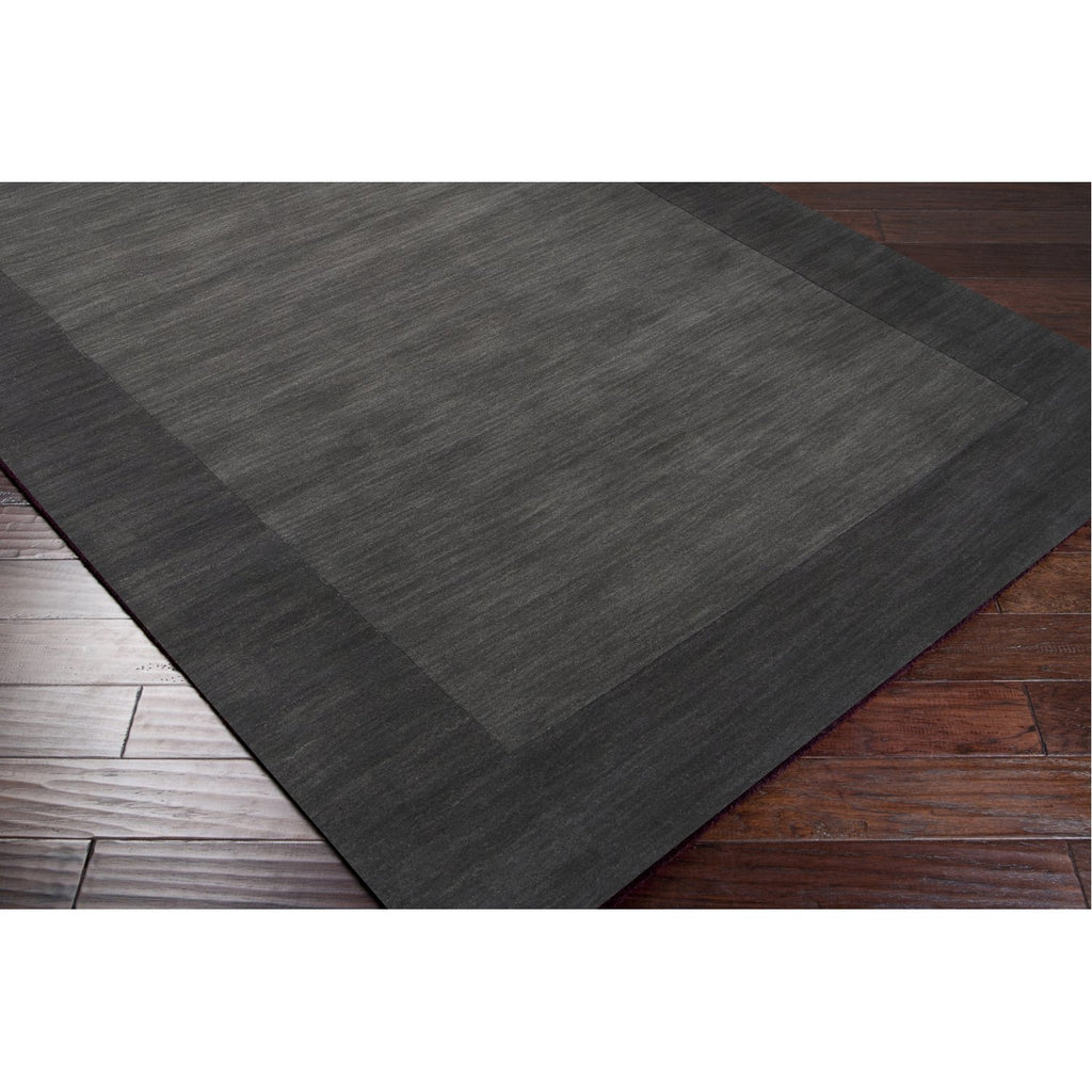Mystique M-347 Hand Loomed Rug in Charcoal & Black by Surya