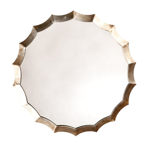 Round Scalloped Mirror design by Jamie Young
