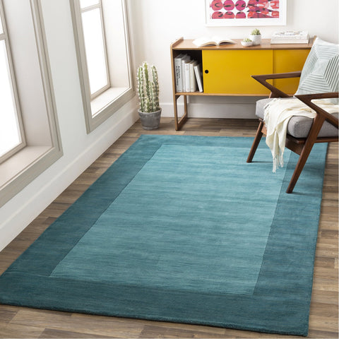 Mystique M-5469 Hand Loomed Rug in Aqua & Teal by Surya