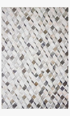 Maddox Rug in Grey & Mocha by Loloi II