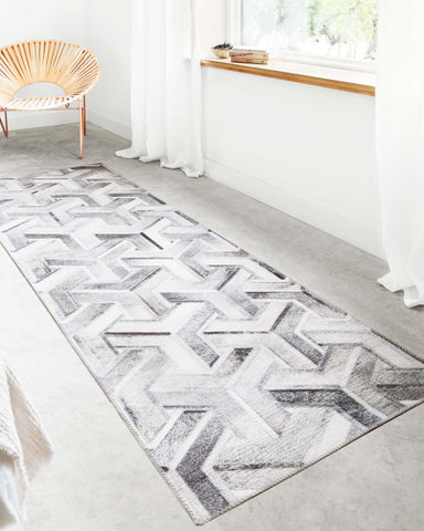 Maddox Rug in Silver & Ivory by Loloi II